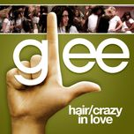 hair / crazy in love (glee cast version) (single) - glee cast