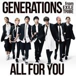 all for you (single) - generations