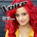 beautiful (the voice performance) (single)  - sarah de bono