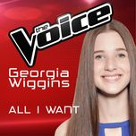 all i want (the voice australia 2016 performance) (single) - georgia wiggins
