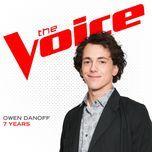 7 years (the voice performance) (single) - owen danoff