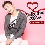 valentine nho em (single) - khanh don
