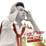 i don't need your love (single) - dinh quoc anh