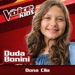 dona cila (the voice brasil kids 2017) (single) - duda bonini