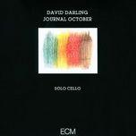 journal october - david darling