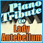 lady antebellum piano tribute - piano tribute players