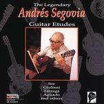 the legendary guitar etudes - andres segovia