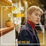 phai chang minh yeu chang dung ngay (single) - do phu qui