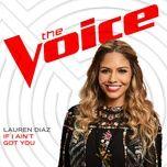if i ain't got you (the voice performance) (single) - lauren diaz