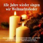 alle jahre wieder singen wir weihnachtslieder: stille nacht, heilige nacht, leise rieselt der schnee, o du frohliche, kling glockchen, susser die glocken, o tannenbaum, es ist ein ros' entsprungen, frohliche weihnacht uberall - v.a