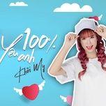 100% yeu anh (single) - khoi my