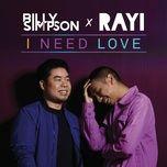 i need love (single) - billy simpson