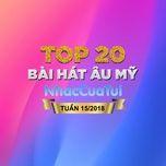 top 20 bai hat au my tuan 15/2018 - v.a