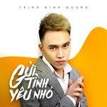gui tinh yeu nho (single) - trinh dinh quang