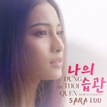 dung nhu thoi quen (korean version) (single) - sara luu