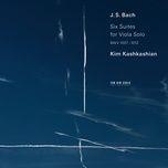 j.s. bach: cello suite no. 2 in d minor, bwv 1008, 1. prelude – transcr. for viola (single) - kim kashkashian