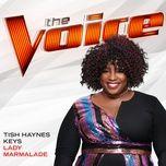 lady marmalade (the voice performance) (single) - tish haynes keys