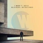 i need (wilkinson & metrik remix) (single) - wilkinson, hayla