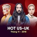 nhac au my hot thang 11/2018 - v.a
