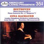 beethoven: piano concertos nos. 4 & 5 - gina bachauer