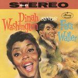 dinah washington sings fats waller - dinah washington