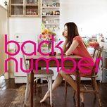 hanataba (single) - back number
