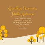 goodbye summer, hello autumn - v.a
