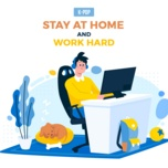 stay at home and work hard - v.a