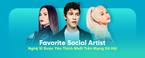 favorite social artist: nghe si duoc yeu thich nhat tren mang xa hoi