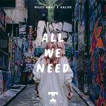 Tải bài hát All We Need Mp3