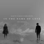in the name of love (snavs remix) - martin garrix, bebe rexha