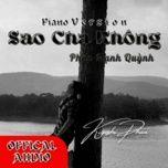 Tải bài hát Sao Cha Không (Piano Cover) Mp3
